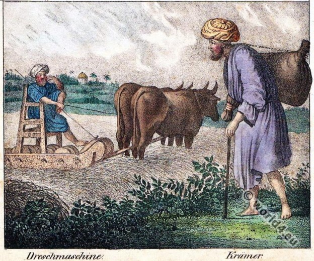 Traditional Libya merchant and farmer costumes