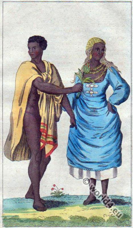 Traditional Madagascar costumes. African clothing