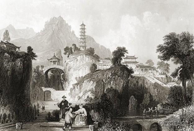 China, Imperial, Palace,Chinese landscape, 天堂行宫(虎丘山上的宫殿)