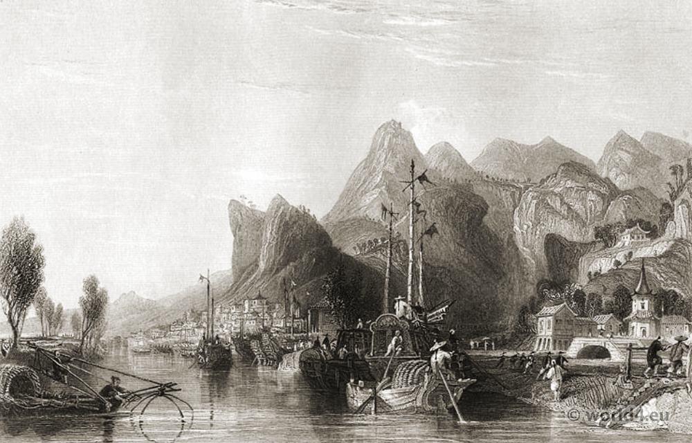 Se-tseaou, Guangxi, Shan, Huangshan, Ancient, China, Landscape,