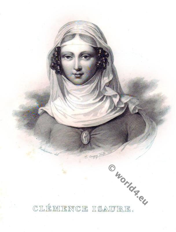 .Clémence Isaure. Medieval Troubadours. French Renaissance