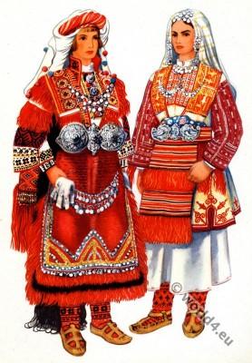 Macedonian national costumes Bitola. Македонски народни носии од Битола.