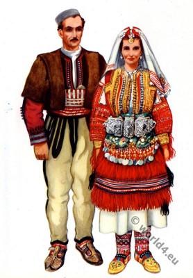 Vladimir Kirin. Macedonian national costumes. Galicnik. Македонски народни носии од Галичник.