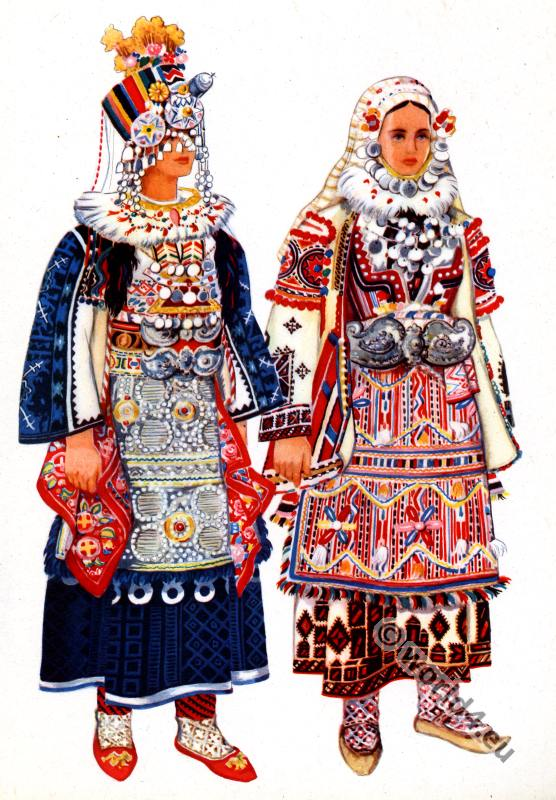 Macedonian national costumes from Skopska crna gora.