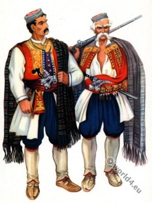 Montenegro national costumes. Црна Гора национална ношња.