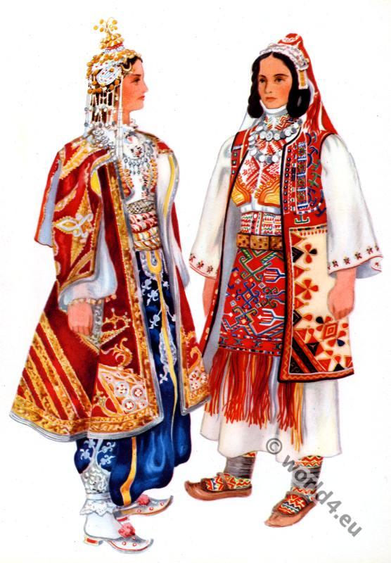Vladimir Kirin. Serbian national costumes from Prizren, Sredačka pupa.