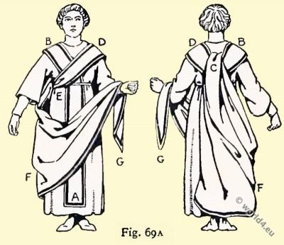 Byzantine, Costume, History Consuls insignia, toga