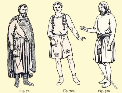 Clavus, tunica, cloak, pouch, Byzantine, Costume, History