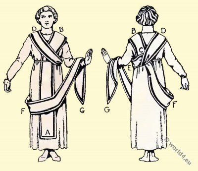 Byzantine, Costume, History, toga picta,