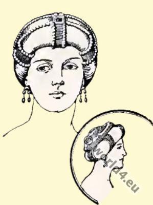 Byzantine, Head-dress 6th century, Imperial diadem,