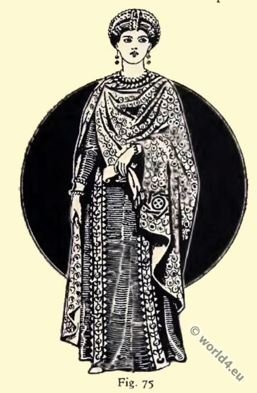 Byzantine, Costume, History, Lady Antonina, Mosaics, Ravenna