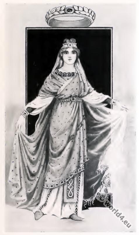 Byzantine, Costume, History, noble lady