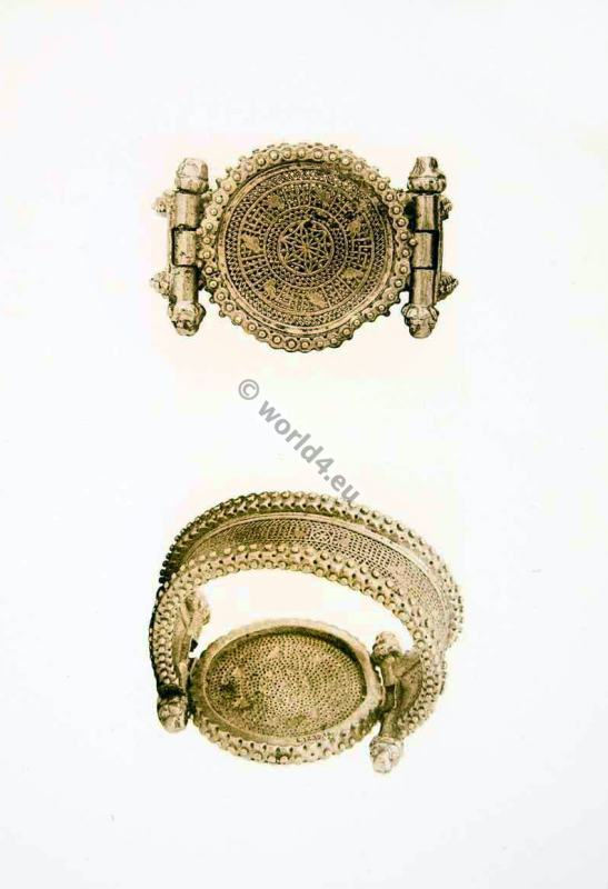 Ancient Roman Jewlery. Bracelets with Open-Work.