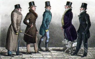 "Regency Dandy Clubs, Dandysme. The Earl of Sefton, The Duke of Devonshire, ""Poodle Byng"", Lord Manners, The Duke of Beaufort."