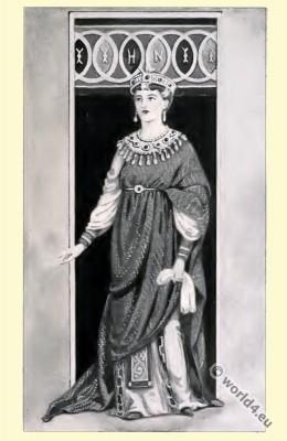 Byzantine, Empress, Costume, History,