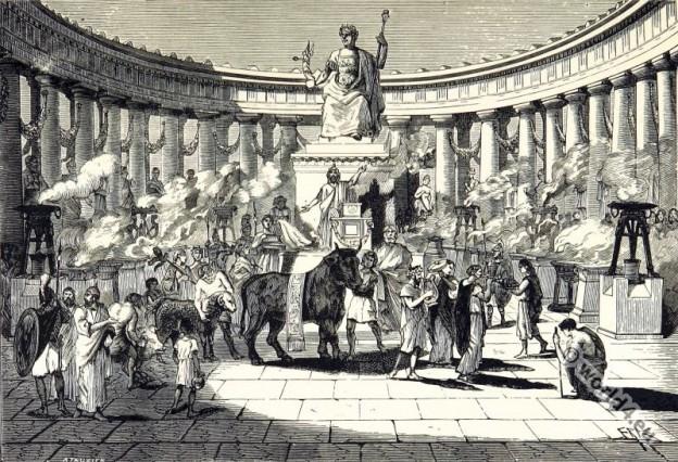 Gallic History. 1st century Roman temple of Augustus at Lyon