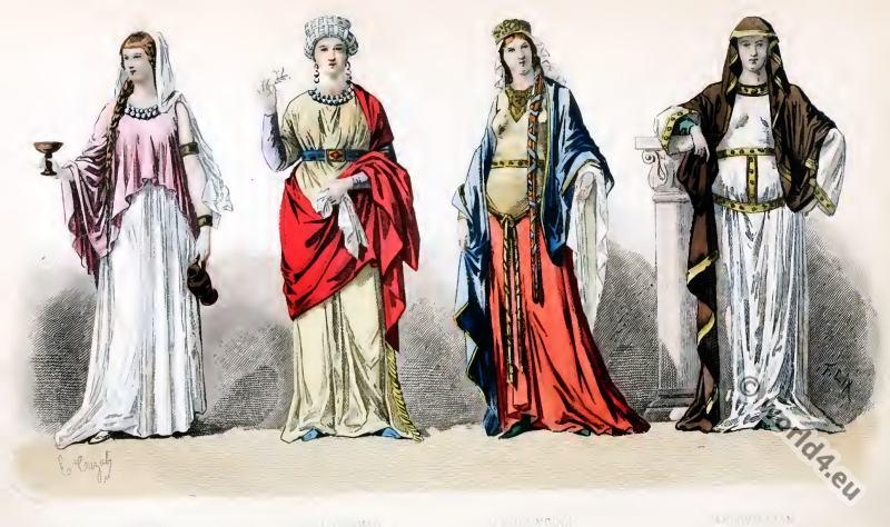 Fashion History, Gallic, Gallo-Roman, costumes