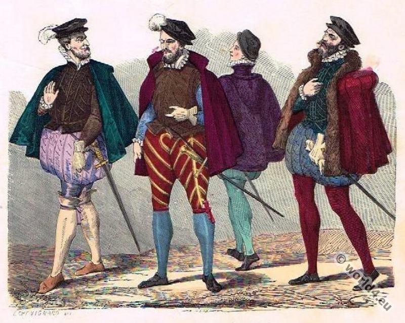 Gentlemen, Renaissance, fashion history, 16th, century fashion