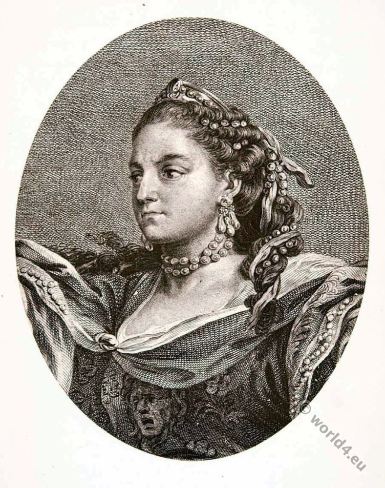 Hippolyte Clairon, tragedian, 18th century, actress, rococo
