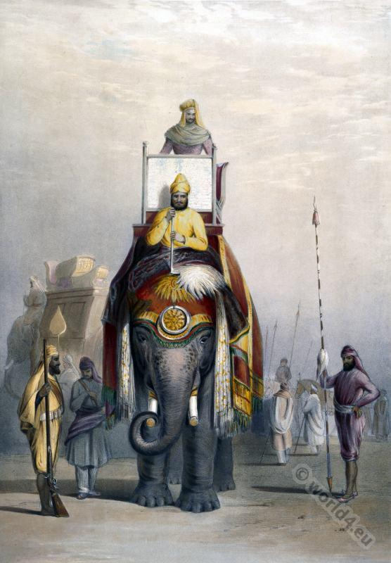 India Costume History. Maharaja of Patiala