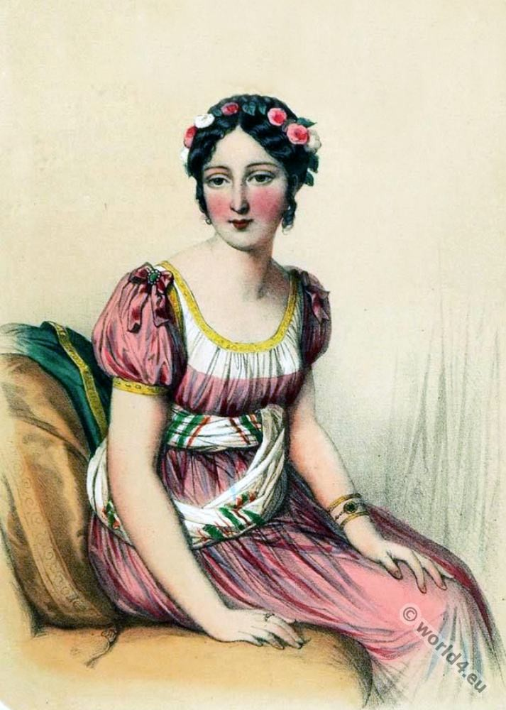 Laure Regnaud de Saint-Jean d'Angely. First Empire, Fashion history, regency, costumes