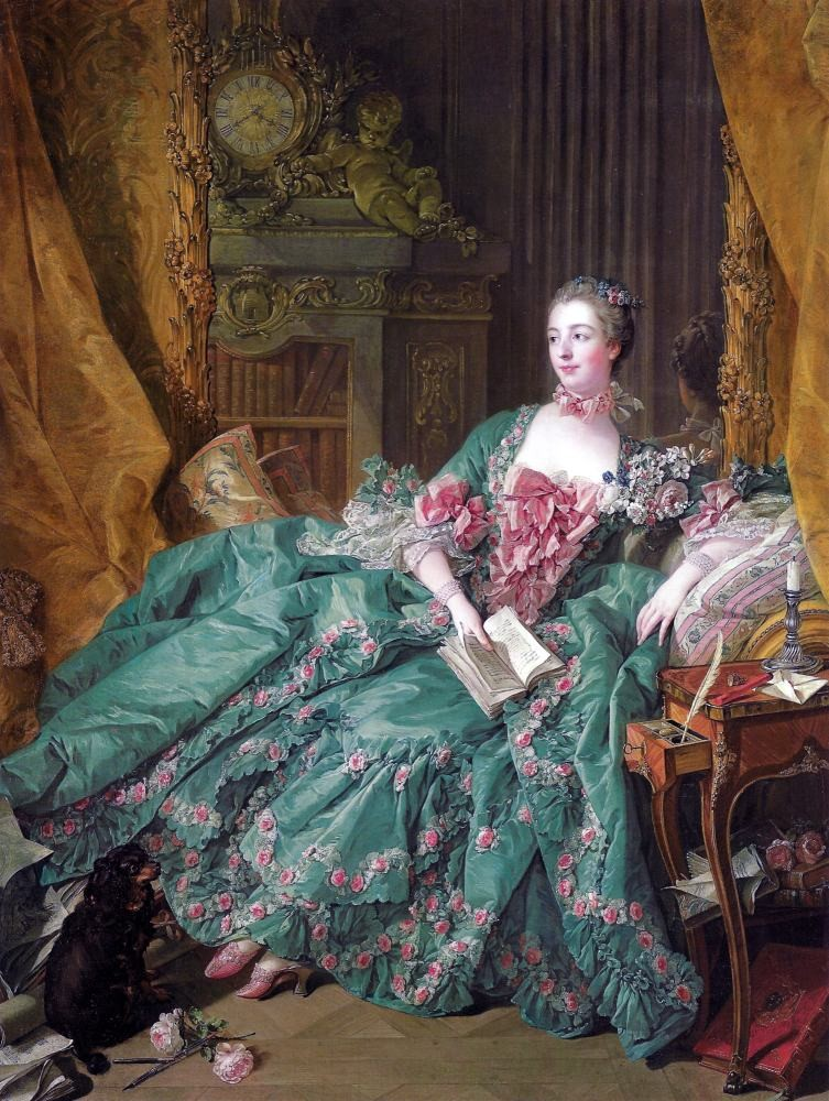 Mistress, Marquise, Pompadour, François, Boucher, fashion, history, rococo, costume,