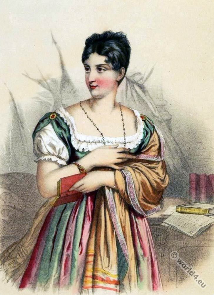 Marguerite Georges. Famous French stage actor. Mistress of Napoleon I.First Empire, Fashion history, regency, costumes
