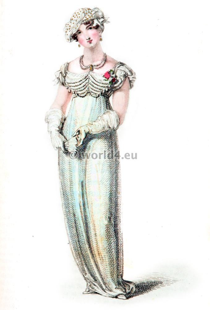 Evening Full dresses, First Empire, Fashion history, regency, costumes