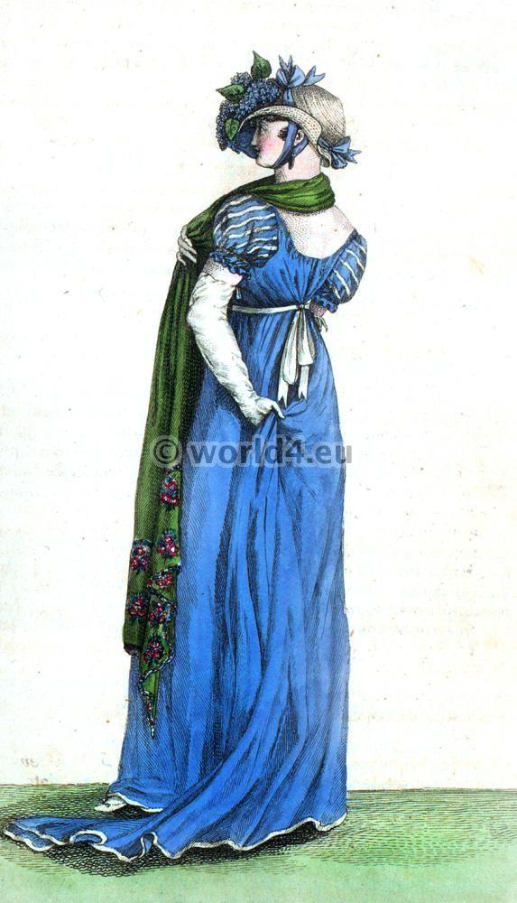 First Empire, Fashion history- regency, Chapeau de Paille blanche,