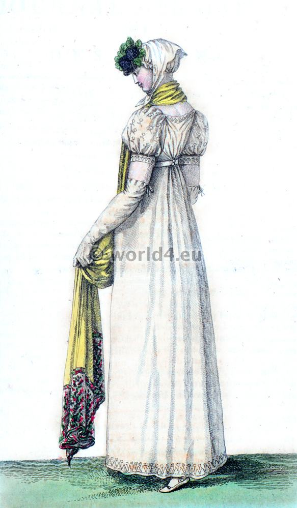 First Empire, Fashion history- regency, Robe Ronde