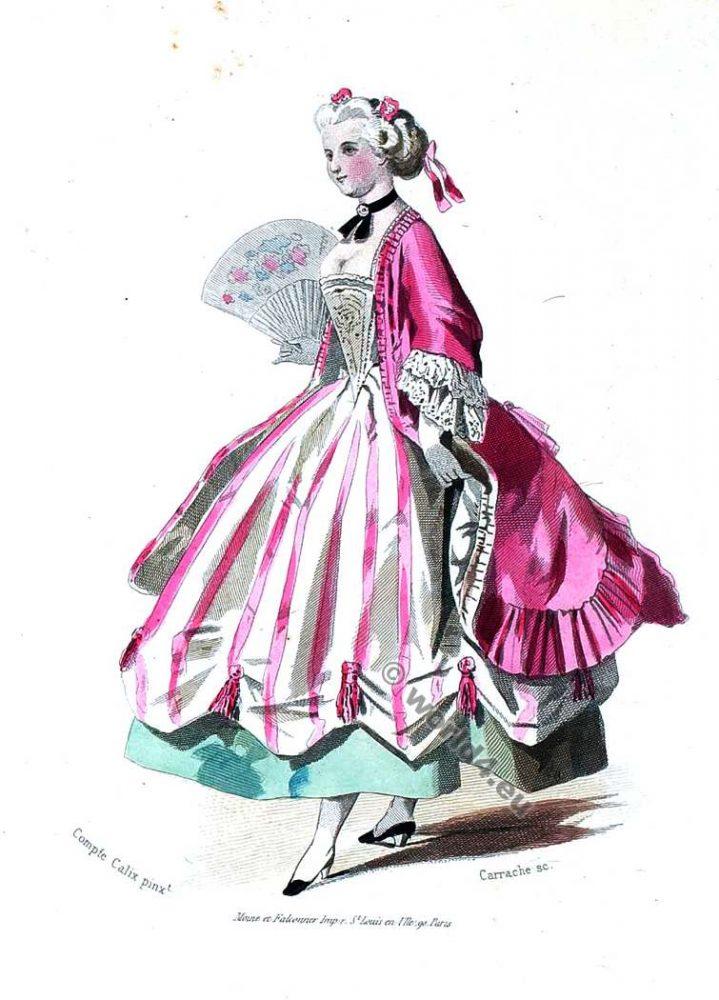 Rococo costume, 18th century clothing,