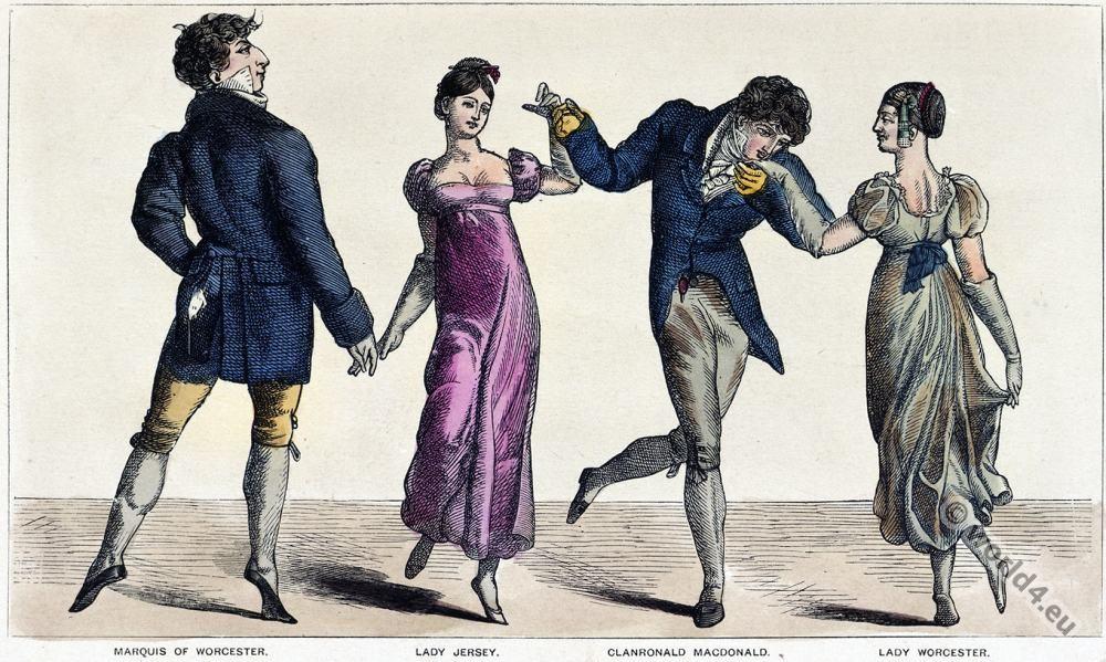 Quadrille, Romantic, fashion, Regency, costumes,