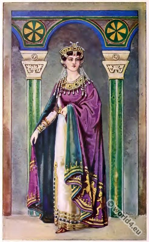 Empress, Theodora, Byzantine, Costume, History