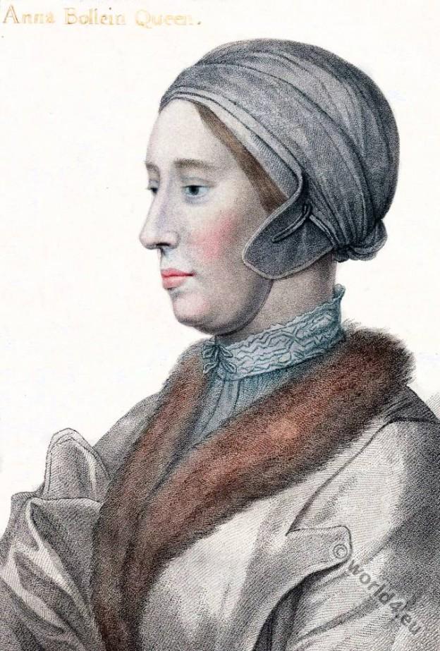 Anne Boleyn, Queen, Tudor, England, Hans Holbein, Renaissance, fashion,