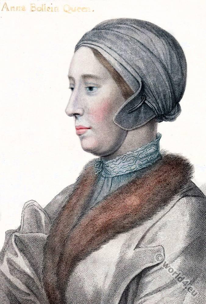 Anne Boleyn, Queen, England, Hans Holbein, Tudor,