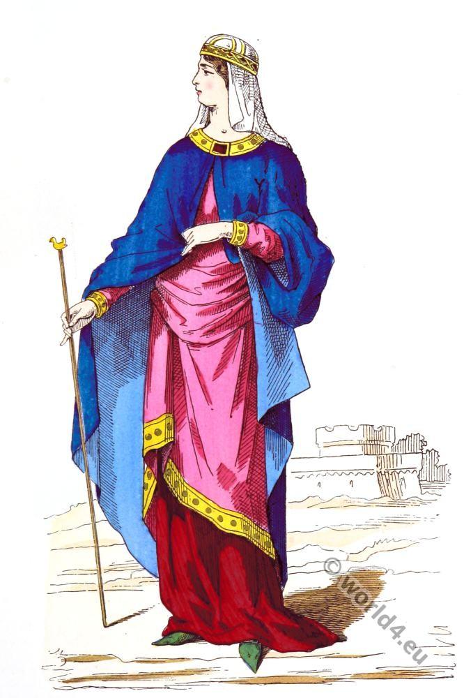 Carolingian, clothing, fashion, middle ages,