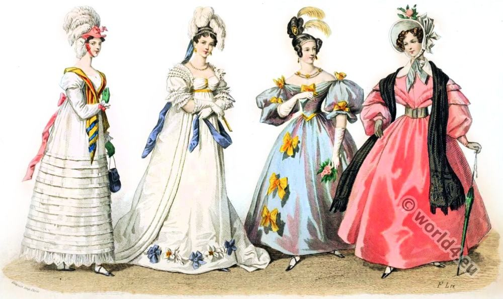fashion history, romantic, victorian, Restoration, Leg-of-mutton, sleeves, Bonnets,
