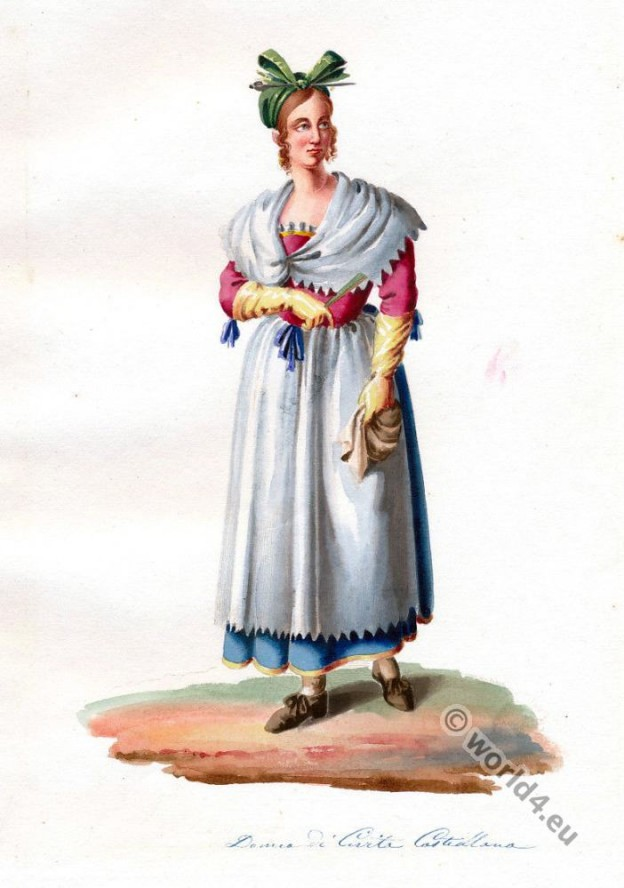 Woman of Civita Castellana. Italy national costumes.