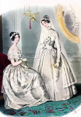 Romantic era, costumes, Romanticism, fashion, 19th century, biedermeier, knitted dresses