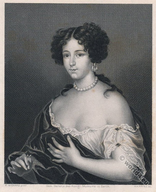 Marie Mancini. Baroque era mistress. French King Louis XIV.