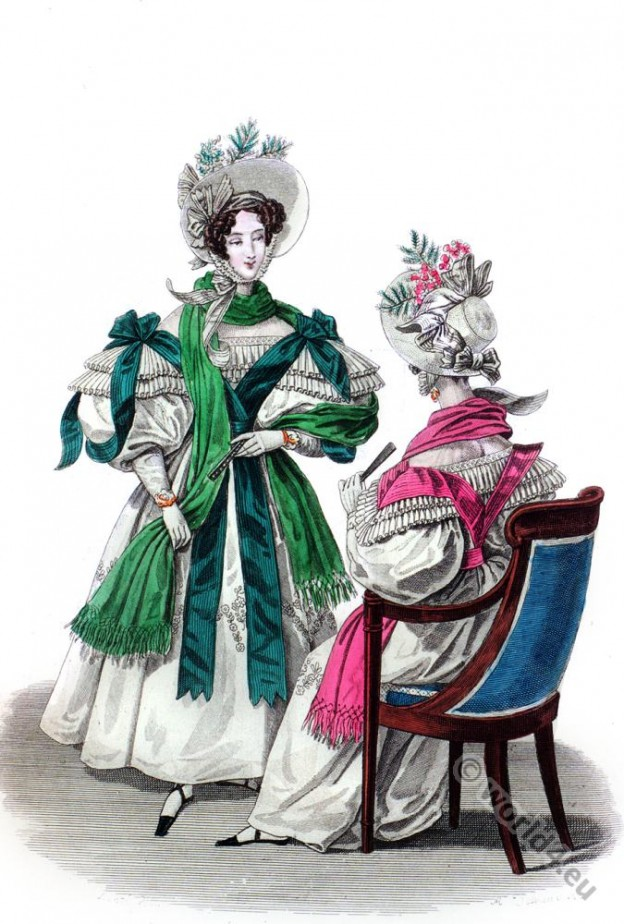 Romantic fashion costumes. Restoration