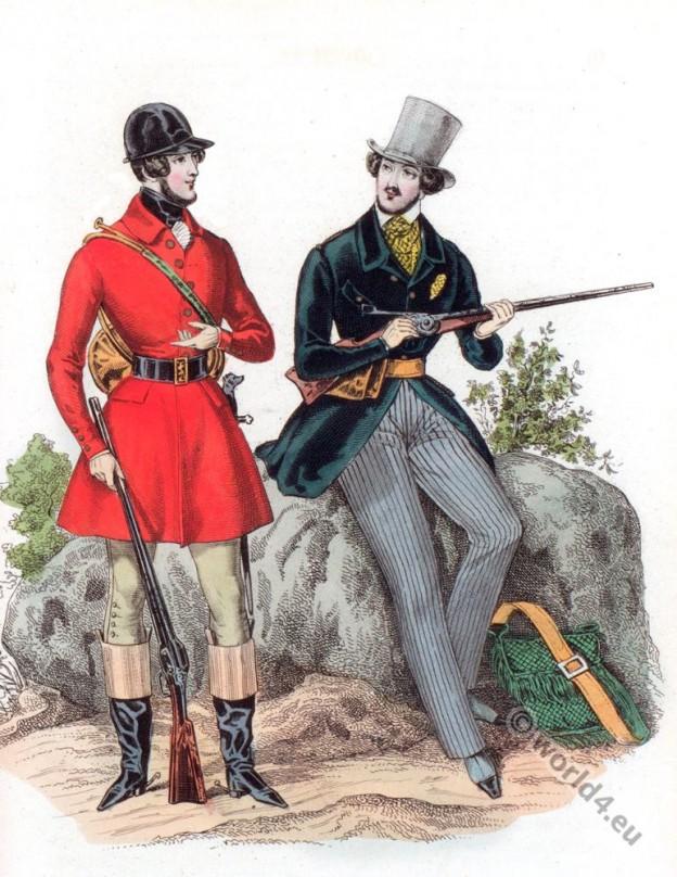 Romantic era fashion costumes