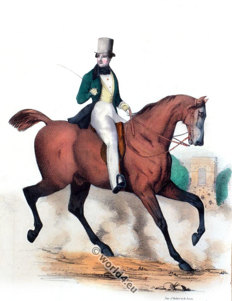 Riding Costume, fashion history, 19th century, Romantic,