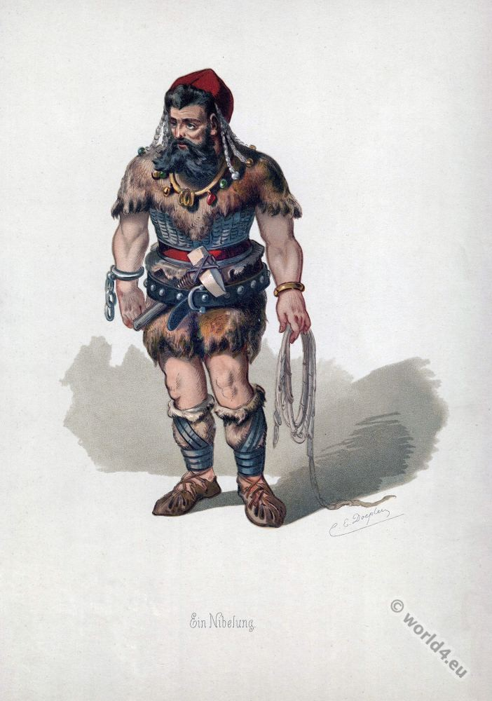 The dwarf Alberich. Richard Wagner.Ring of the Nibelung.Rheingold.