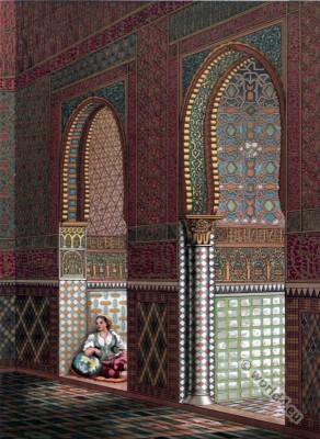 Alhambra at Granada. Moorish art.