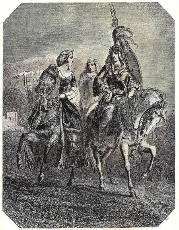 Conquest of Grenada. Washington Irving. Moorish Boabdil