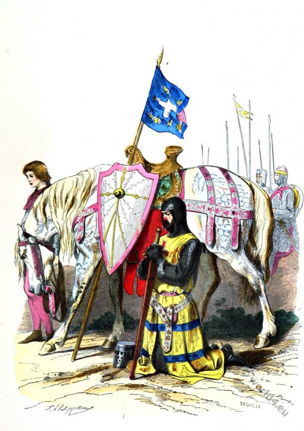 Crusader Knight in armor. 2nd crusade.