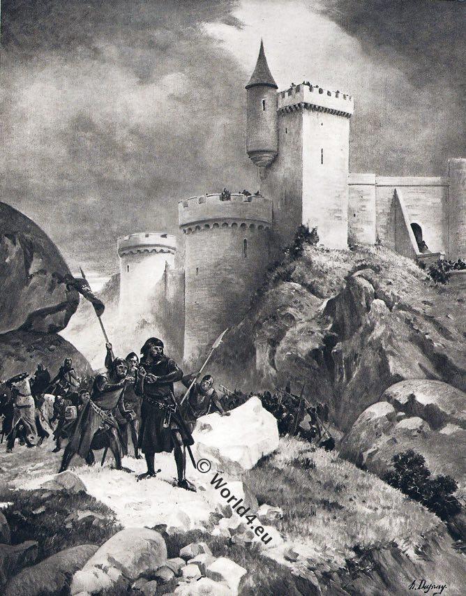 Richard Coeur de Lion,Châlus,castle,middle ages,knight,battle,arms,uniform,crossbow,british battles