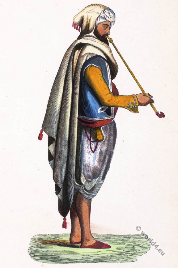 Arabia. Moorish merchant. Historical clothing.