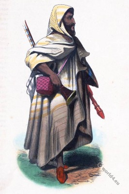 Africa, Arabia. Arab Bedouin. Historical clothing.